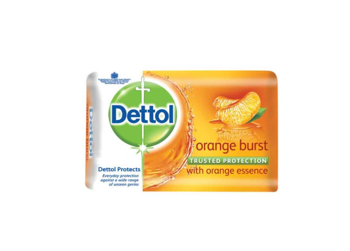 Dettol Orange Burst  Soap110g