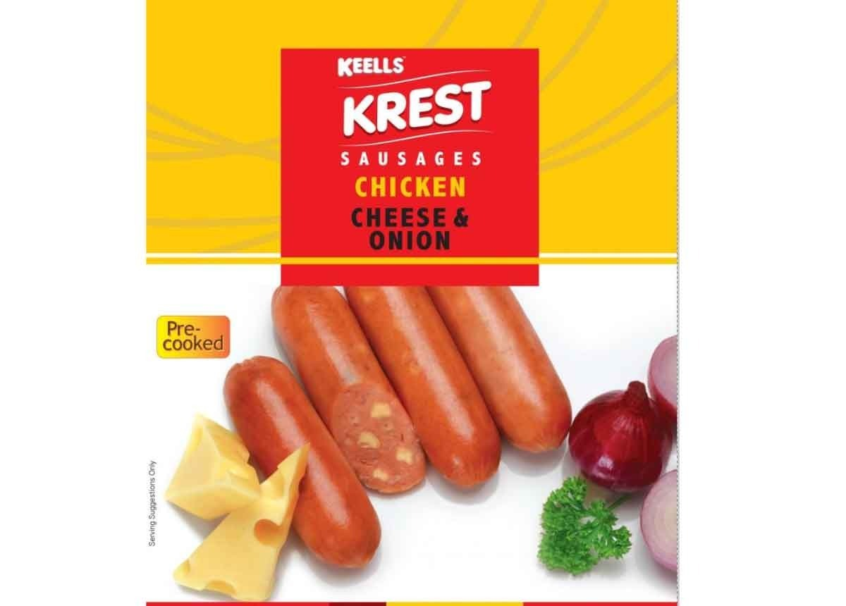 Keells Krest Cheese & Onion Chicken Sausages 250g