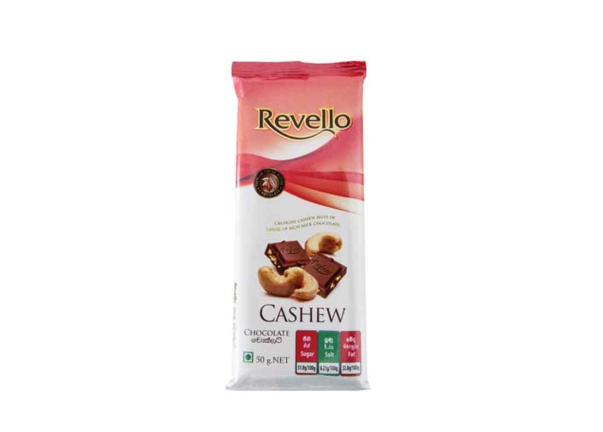 Revello Cashew Chocolate Bar 50g